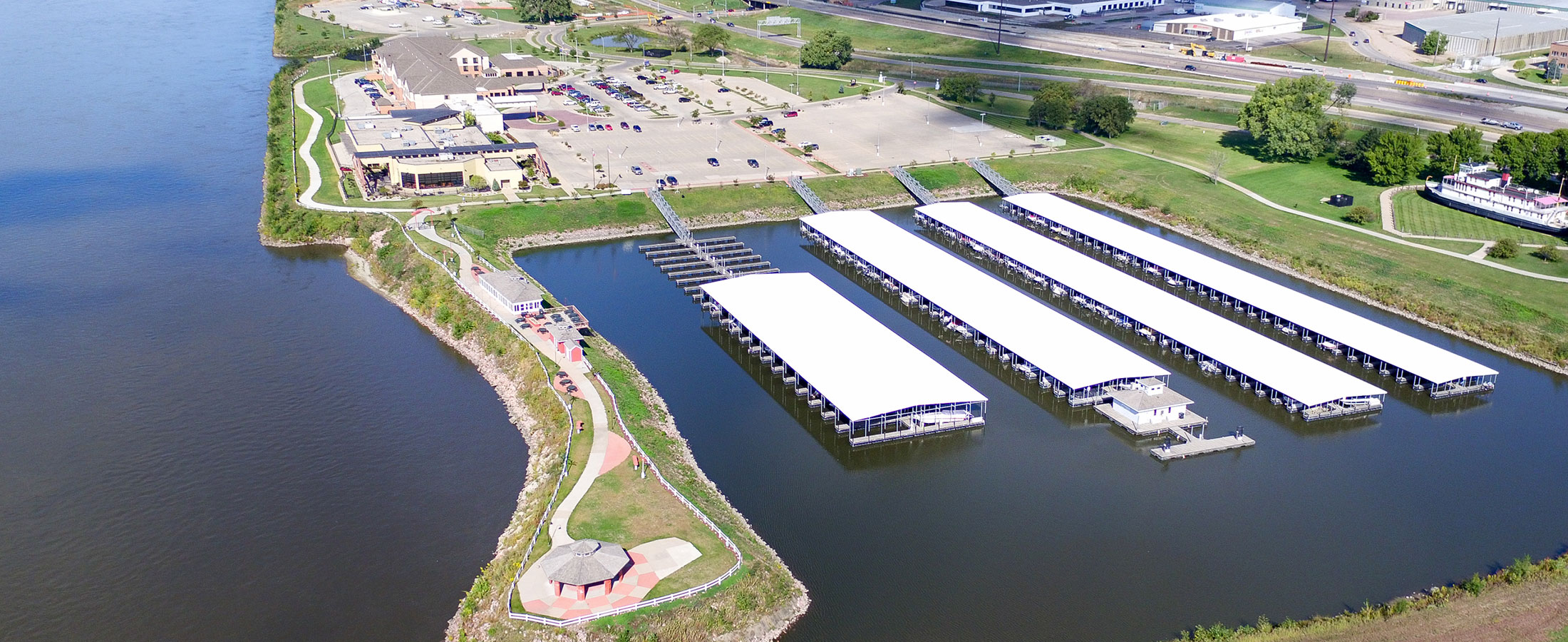 Sioux City Marina aerial